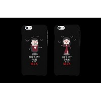Pain in the Neck Vampire Couple Matching Phone Cases (Set)