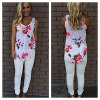 Roses & Cream Sleeveless Top