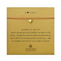 i ♥ you full heart berry silk necklace, gold dipped - Dogeared