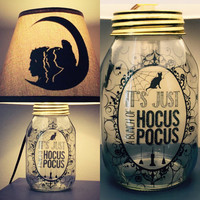 Hocus Pocus Inspired Mason Jar Character Lamp by PracPerfCrafts