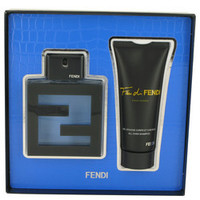 Fan Di Fendi Acqua by Fendi Gift Set -- 3.3 oz Eau De Toilette Spray + 3.3 oz All Over Shampoo (Men)