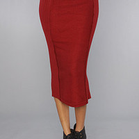 The Jep Midi Skirt in Wine : Motel : Karmaloop.com - Global Concrete Culture