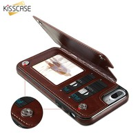 KISSCASE Case For iPhone 8 X 10 Back Cover Retro PU Leather Flip Wallet Phone Cases For iPhone 6 6s 7 Plus 8 8 Plus Coque Fundas