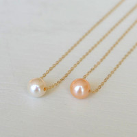 freshwater pearl Layered Necklaces,14k Gold Filled,pearl necklace,girlfriend necklace