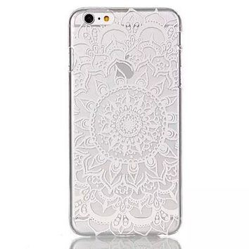 Ultra Thin Slim Clear Hard PC Flower Pattern Back Case Cover For iPhone 6 5S 5C