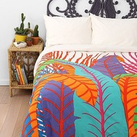 Magical Thinking Palm Leaf Duvet Cover