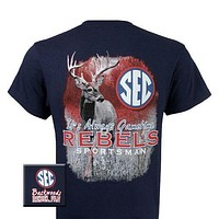SALE Mississippi Ole Miss Rebels Deer Girlie Bright T Shirt