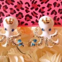 M&H Jewelry super-cute baby octopus studs earring