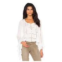 City Breeze Blouse in White