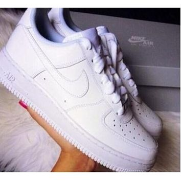 Nike Air Force 1 All White Air Force One Men's and Women's Shoes