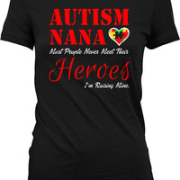 Autism Awareness Shirt Autism Gifts For Women Autistic Shirt Autism Nana Autism Spectrum Gifts For Grandma Advocate Ladies Tshirt MD-351C