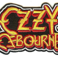 Ozzy Osbourne Iron-On Patch Classic Letters Logo