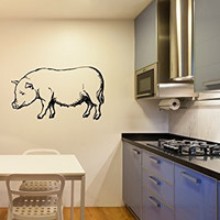 Pig Silhouette Vinyl Wall Decal Sticker Graphic
