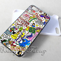 Disney Princess Collage Hakuna Matata for iPhone 4, iPhone 4s, iPhone 5, iPhone 5s, iPhone 5c, Samsung Galaxy S3, Samsung Galaxy S4 Case