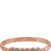 CRYSTAL HEART HINGE BANGLE