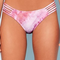 Strappy Watercolor Print Bikini Bottoms