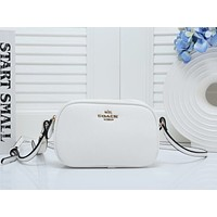 COACH Fashion New Small Bag Personality Women Leather Shoulder Bag White