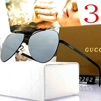 Gucci Fashion Men Summer Sun Shades Eyeglasses Glasses Sunglasses