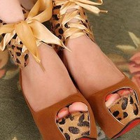 Lace Up Peep Toe Rubber Sole PU Leather Women High Heel Shoe from dreamgirl