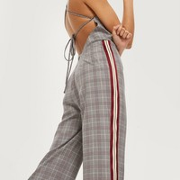 Checked Jumpsuit   Topshop