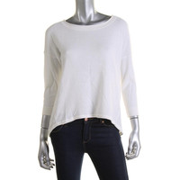 French Connection Womens Lace Back Hi-Low Knit Top