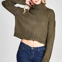 Barely Covered Winter Sweater - Olive