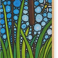 Dragonfly Pond By Sharon Cummings Wood Print