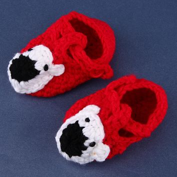 Baby Shoes Handmade Crochet Infants Knit Toddler Shoes For Baby Girls Boy born 0-12 Months Baby Girl Shoes Infant Gift