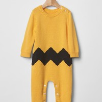 Gap Babygap + Peanuts Chevron Sweater One Piece