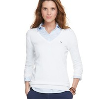 Candlewood Cotton V-Neck Sweater