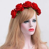 Fashion Floral Hairbands Beautiful Velvet Rose