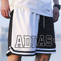 Adidas New Fashion Letter Hit Color Print Shorts