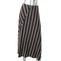 Style & Co. Womens Knit Striped Maxi Skirt