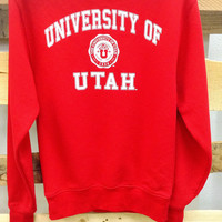 """University of Utah"" Vintage Sweatshirt"