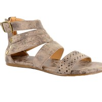 Corkys Terrance Chocolate Distressed Flat Sandals