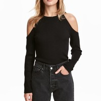Cold shoulder jumper - Black - Ladies | H&M GB