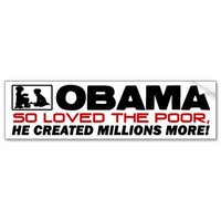 So Loved The Poor! Bumper Sticker from Zazzle.com