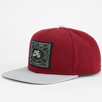 Nike Sb Dirty Diamonds Mens Snapback Hat Maroon One Size For Men 24920032301