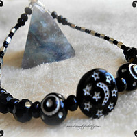 Cosmic Moon Star Bracelet, Beaded, Direct Checkout, Woman, Gifts for her