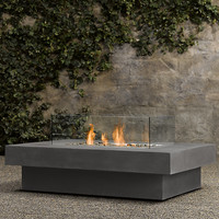 Laguna Concrete Natural Gas Fire Table- Rectangle