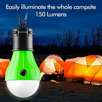 3 LED Portable Ultra Bright Camping Tent Light Bulb Outdoor Hanging Lamp Outdoor Camp Tent Night Fishing Hanging Light