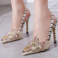 Hot style is a hot seller of aqua comfortable high-heeled sandals