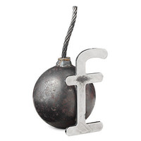 """""""F"""" BOMB PAPERWEIGHT 