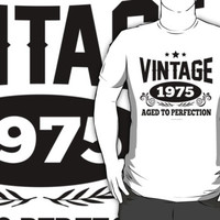 'Vintage 1975, Aged to Perfection' T-Shirts