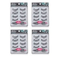Ardell Professional Eyelashes #105 With Free Applicator - 4 Packs of 5 Pairs