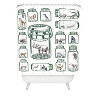Belle13 Endangered Species Preservation Shower Curtain