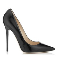 Black Patent Leather Pointy Toe Designer Pumps | Anouk | JIMMY CHOO Shoes