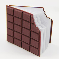 Best Promotion Convenient Stationery Notebook Chocolate Memo Pad DIY Cover Notepad School Gifts 1pcs
