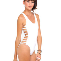 Motel Vinnie Cut Out Bodice in White