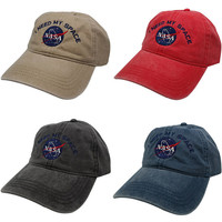 Nasa I NEED MY SPACE Meatball Insignia Embroidered Cotton Cap - 4 Colors
